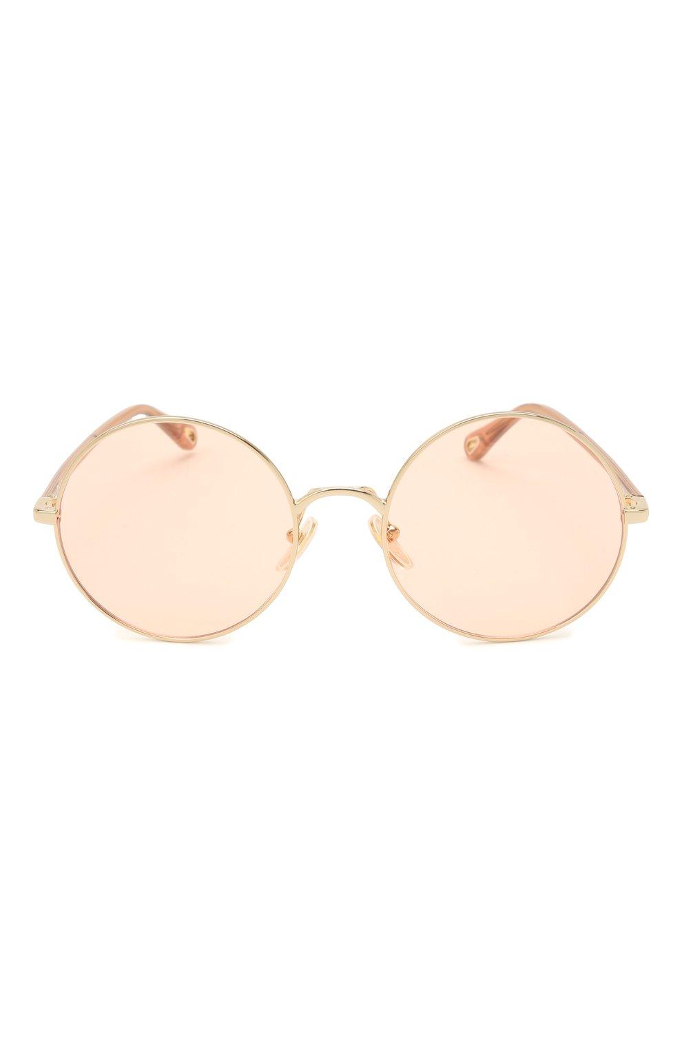 Женские солнцезащитные очки CHLOÉ коричневого цвета, арт. CH0042S | Фото 3