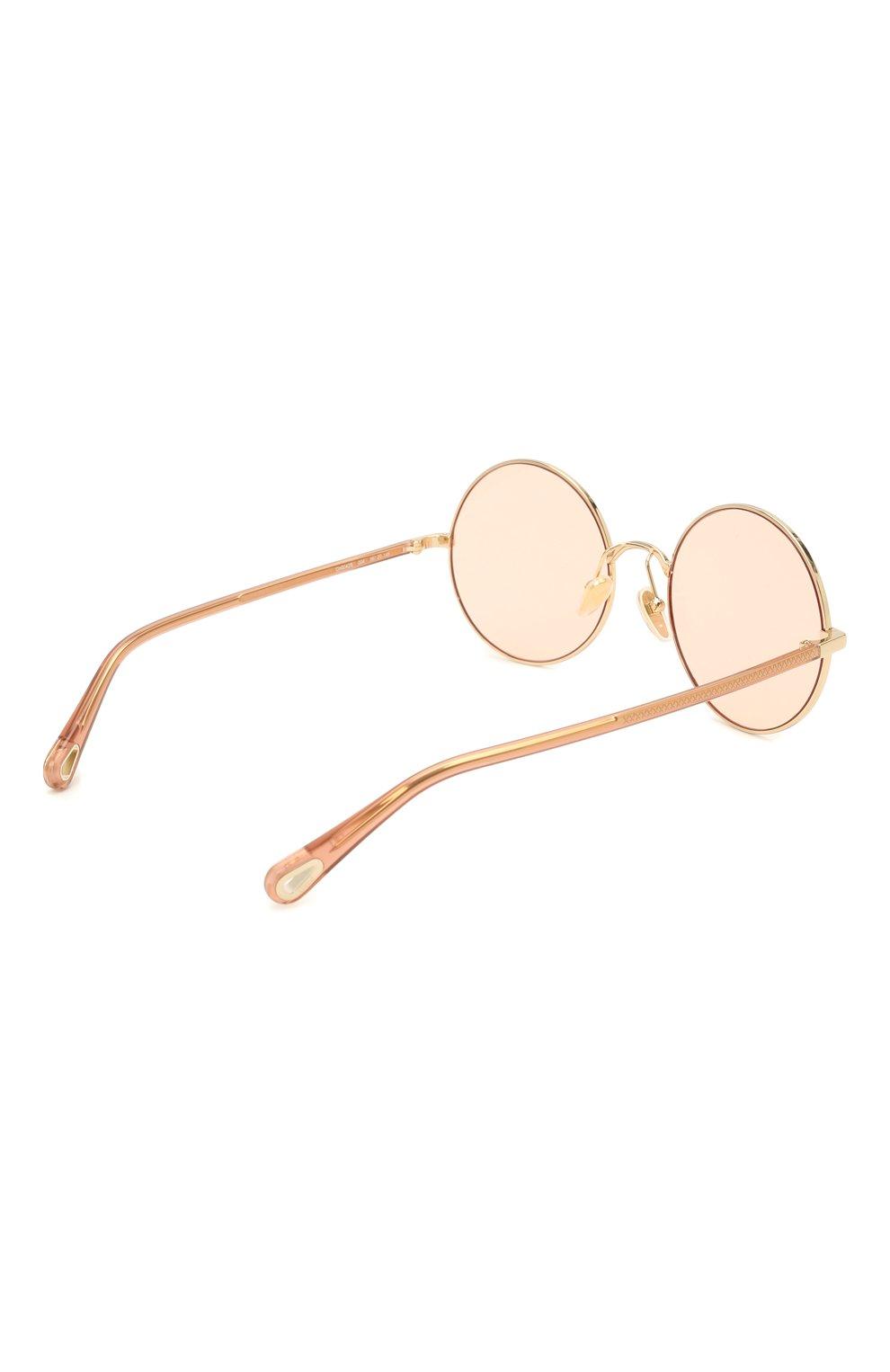 Женские солнцезащитные очки CHLOÉ коричневого цвета, арт. CH0042S | Фото 4