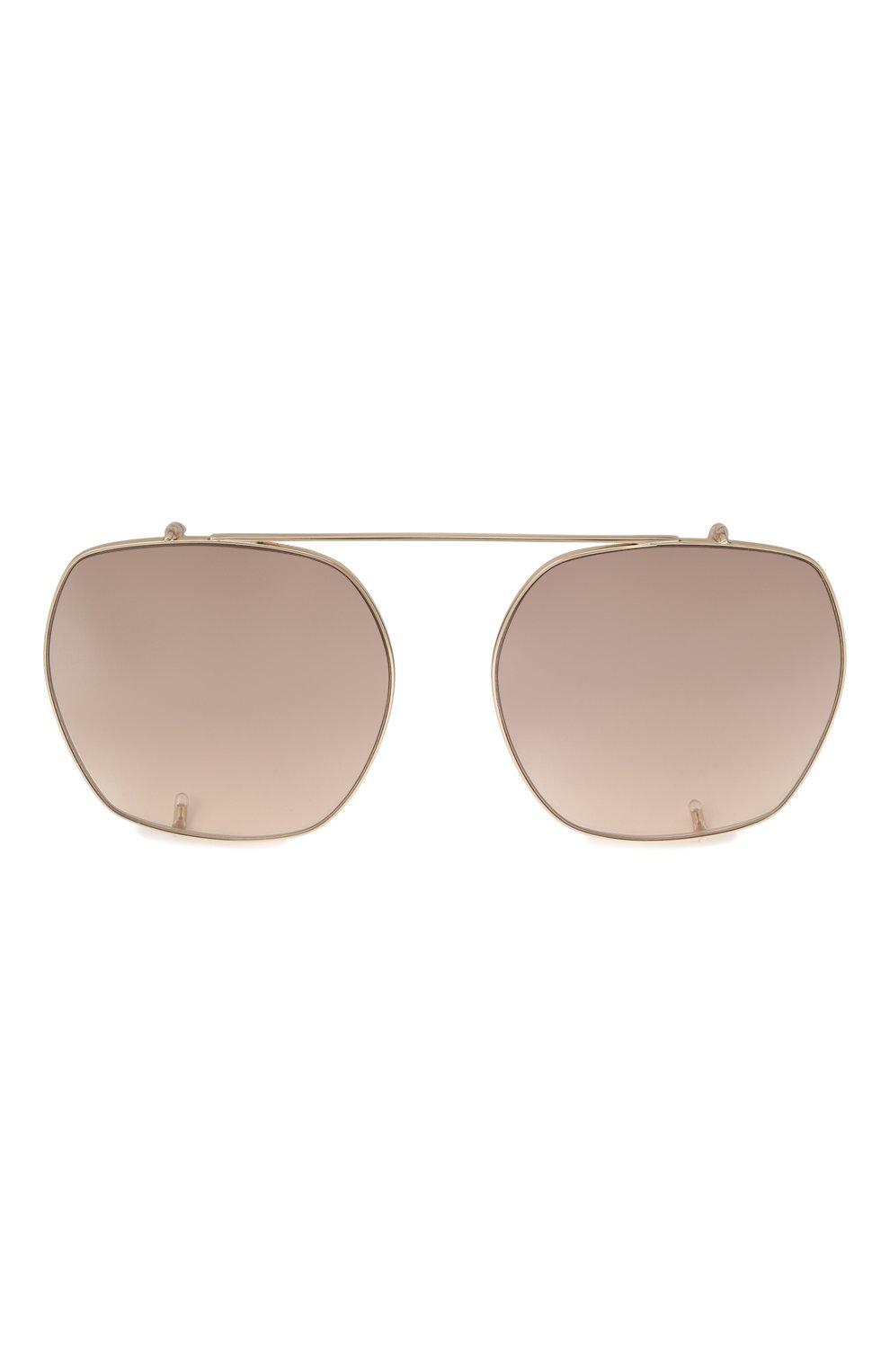 Женские солнцезащитные очки CHLOÉ коричневого цвета, арт. CH0042S | Фото 5