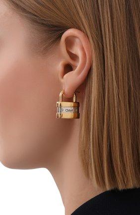 Женские серьги colleen CHLOÉ золотого цвета, арт. CHC20SFE35CB7 | Фото 2