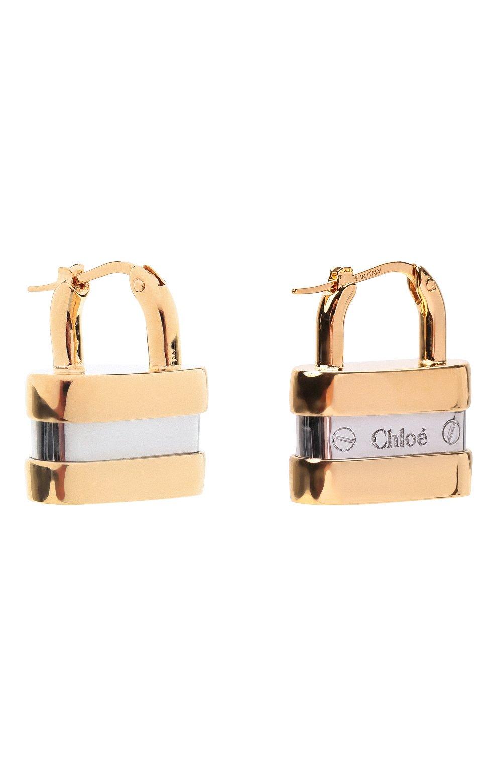 Женские серьги colleen CHLOÉ золотого цвета, арт. CHC20SFE35CB7 | Фото 3
