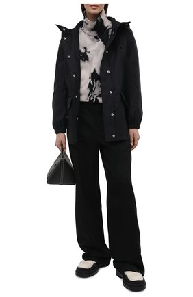 Женская ветровка BURBERRY черного цвета, арт. 8039063 | Фото 2