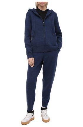 Женский кашемировый кардиган BURBERRY синего цвета, арт. 8040519 | Фото 2