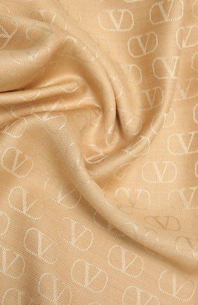 Женский шарф из шелка и шерсти VALENTINO бежевого цвета, арт. VW0ED007/AJB | Фото 2