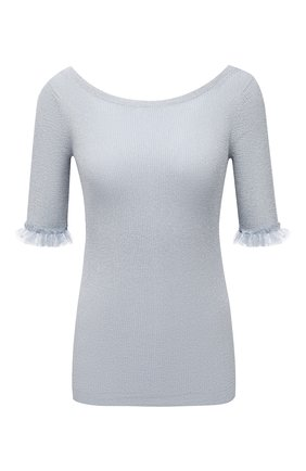 Женский пуловер REDVALENTINO голубого цвета, арт. VR0KC07E/5US   Фото 1