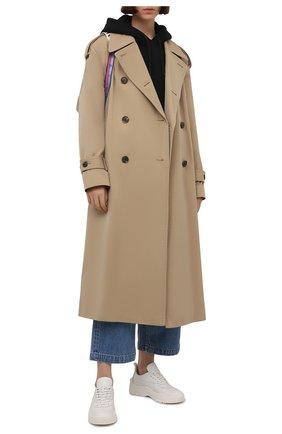 Женские кожаные кроссовки gumboy VALENTINO белого цвета, арт. VW0S0K55/AEQ | Фото 2 (Материал внутренний: Текстиль; Подошва: Платформа)