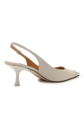 Женские кожаные туфли sr twenty SERGIO ROSSI светло-серого цвета, арт. A94360-MNAN07   Фото 4 (Материал внутренний: Натуральная кожа; Каблук высота: Средний; Каблук тип: Шпилька; Подошва: Плоская)