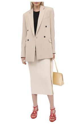 Женские кожаные босоножки sunny PIERRE HARDY красного цвета, арт. VD06/LAMB   Фото 2