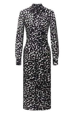 Женское шелковое платье TOM FORD черно-белого цвета, арт. AB2992-FAP126 | Фото 1