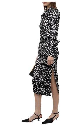 Женское шелковое платье TOM FORD черно-белого цвета, арт. AB2992-FAP126 | Фото 2