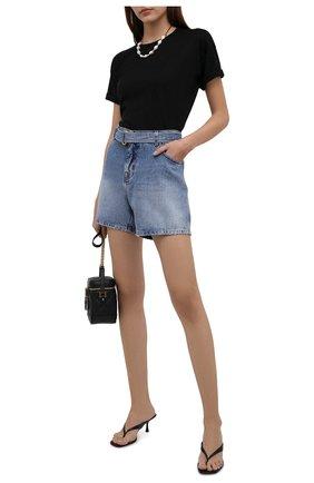 Женские джинсовые шорты TOM FORD голубого цвета, арт. SHD003-DEX111 | Фото 2
