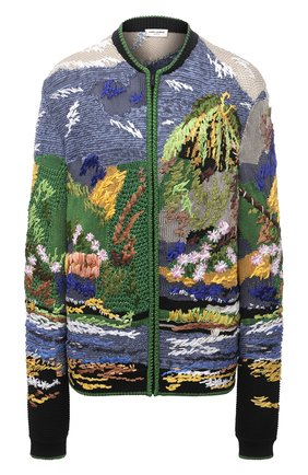 Женский кардиган из вискозы и шелка SAINT LAURENT разноцветного цвета, арт. 652744/YAYP2 | Фото 1