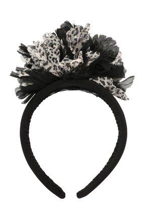 Женский ободок для волос DOLCE & GABBANA черно-белого цвета, арт. FY347Z/GER78 | Фото 1