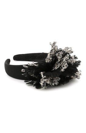 Женский ободок для волос DOLCE & GABBANA черно-белого цвета, арт. FY347Z/GER78 | Фото 2