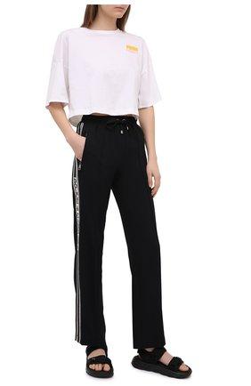 Женские брюки из  вискозы DOLCE & GABBANA черного цвета, арт. FTA65T/G7RNY | Фото 2