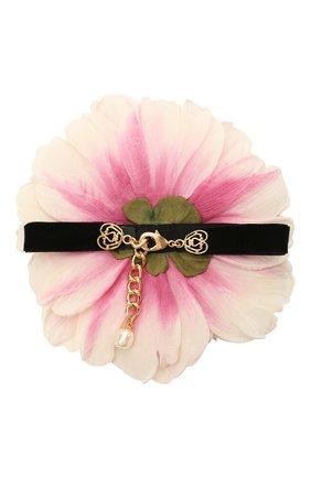 Женское текстильный чокер DOLCE & GABBANA светло-розового цвета, арт. FT050R/GER88   Фото 2