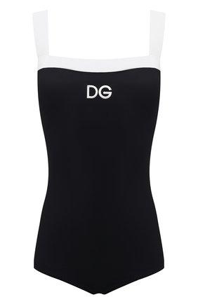 Женский слитный купальник DOLCE & GABBANA черного цвета, арт. 09A72J/FUGA2   Фото 1