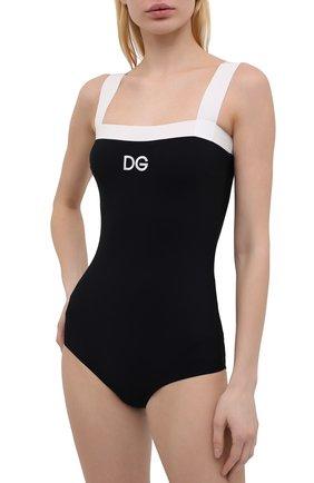 Женский слитный купальник DOLCE & GABBANA черного цвета, арт. 09A72J/FUGA2   Фото 2