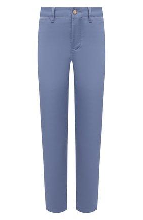 Женские хлопковые брюки POLO RALPH LAUREN голубого цвета, арт. 211800738 | Фото 1