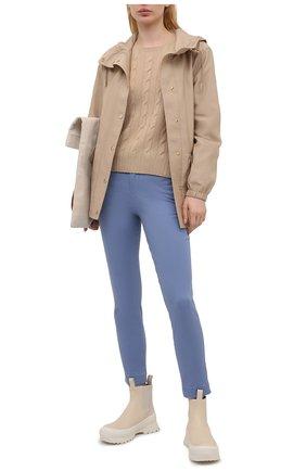 Женские хлопковые брюки POLO RALPH LAUREN голубого цвета, арт. 211800738 | Фото 2