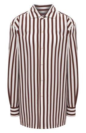 Женская шелковая рубашка RALPH LAUREN коричневого цвета, арт. 290840856 | Фото 1