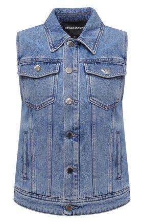 Женский джинсовый жилет EMPORIO ARMANI синего цвета, арт. 3K2BA1/2DG4Z | Фото 1