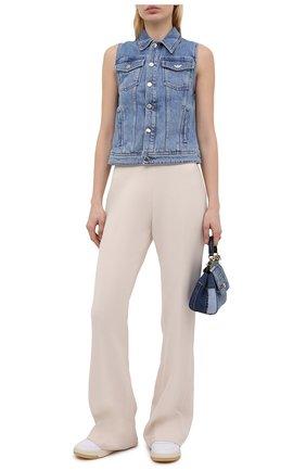 Женский джинсовый жилет EMPORIO ARMANI синего цвета, арт. 3K2BA1/2DG4Z | Фото 2