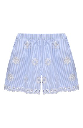Женские хлопковые шорты REDVALENTINO голубого цвета, арт. VR0RF00P/5T4   Фото 1