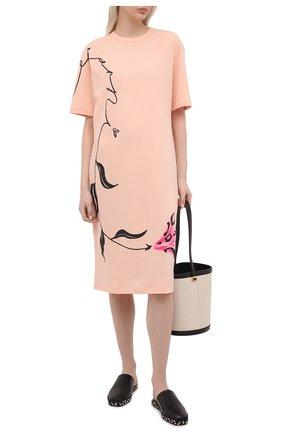 Женское хлопковое платье MARNI розового цвета, арт. ABJE0674P1/USCR28 | Фото 2