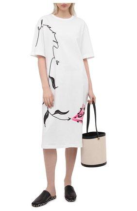 Женское хлопковое платье MARNI белого цвета, арт. ABJE0674P1/USCR28 | Фото 2