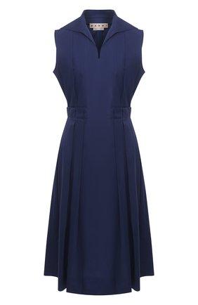 Женское хлопковое платье MARNI синего цвета, арт. ABMA0640A0/UTCZ56 | Фото 1