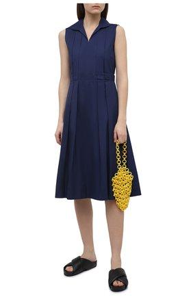 Женское хлопковое платье MARNI синего цвета, арт. ABMA0640A0/UTCZ56 | Фото 2