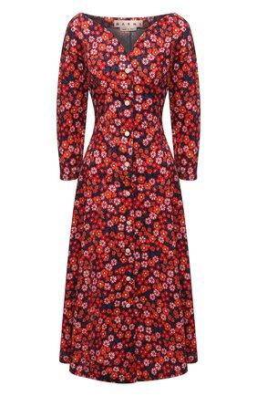 Женское хлопковое платье MARNI разноцветного цвета, арт. ABMA0668A0/UTCZ54 | Фото 1