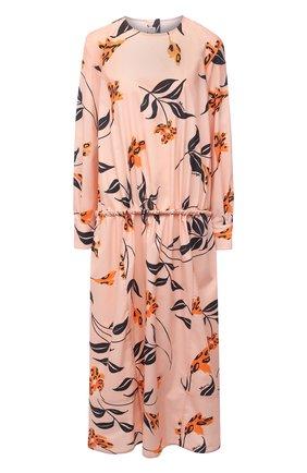Женское хлопковое платье MARNI розового цвета, арт. ABMA0671Q0/UTCZ55 | Фото 1