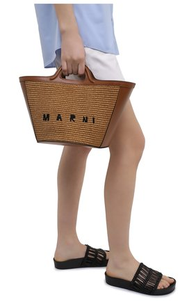 Женская сумка tropicalia small MARNI коричневого цвета, арт. BMMP0068Q0/P3860 | Фото 2