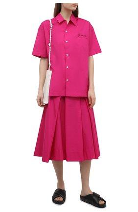 Женская хлопковая юбка MARNI фуксия цвета, арт. G0MA0352A0/UTCZ56   Фото 2