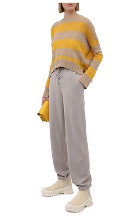 Женский пуловер из шерсти и кашемира MARNI желтого цвета, арт. GCMD0245Q0/UFZ762 | Фото 2