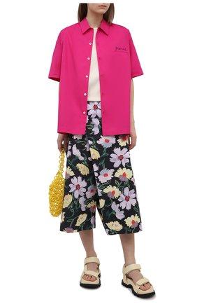 Женские хлопковые брюки MARNI разноцветного цвета, арт. PAMA0074A0/UTCZ96 | Фото 2