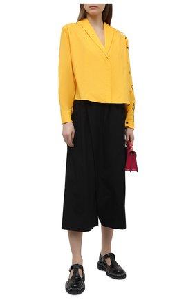 Женские хлопковые брюки MARNI черного цвета, арт. PAMA0074A1/TCY67 | Фото 2