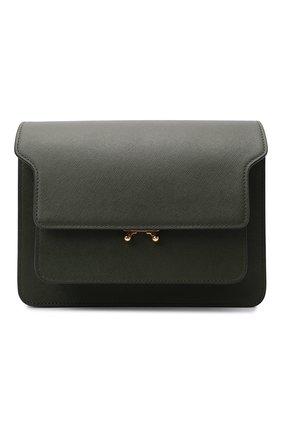 Женская сумка trunk medium MARNI хаки цвета, арт. SBMPN09N01/LV520   Фото 1