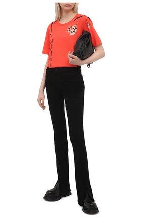 Женская хлопковая футболка MARNI красного цвета, арт. THJE0220P1/USCR28 | Фото 2