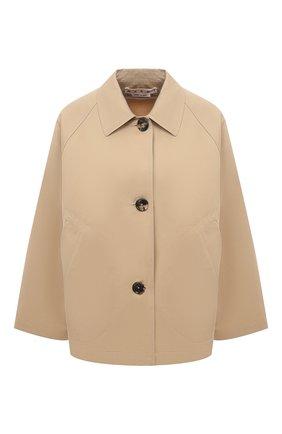 Женская куртка из хлопка и льна MARNI бежевого цвета, арт. GIMA0149A0/TCZ35 | Фото 1