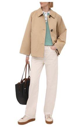 Женская куртка из хлопка и льна MARNI бежевого цвета, арт. GIMA0149A0/TCZ35 | Фото 2