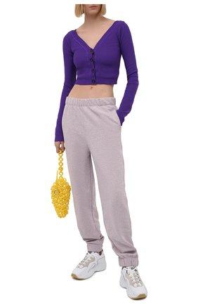 Женский кардиган N21 фиолетового цвета, арт. 21E N2S0/A008/7579 | Фото 2