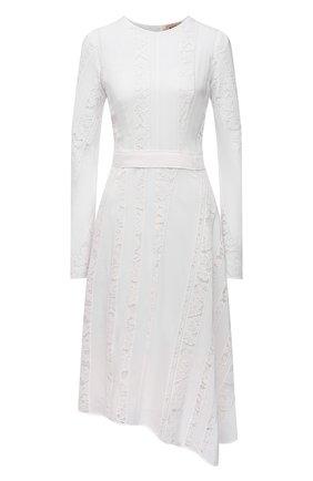 Женское шелковое платье N21 белого цвета, арт. 21E N2M0/H111/5111   Фото 1