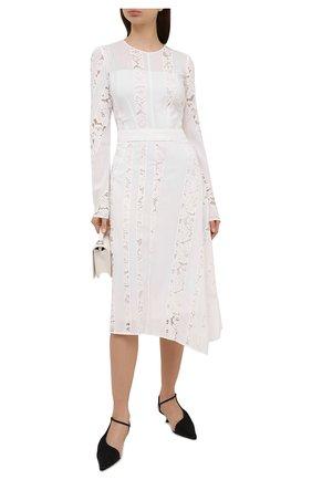 Женское шелковое платье N21 белого цвета, арт. 21E N2M0/H111/5111   Фото 2
