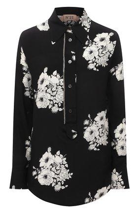 Женская шелковая рубашка N21 черно-белого цвета, арт. 21E N2M0/G091/5544 | Фото 1
