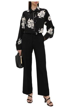 Женская шелковая рубашка N21 черно-белого цвета, арт. 21E N2M0/G091/5544 | Фото 2