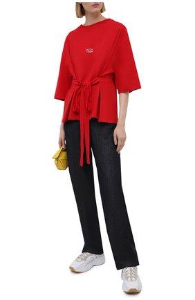 Женская хлопковая футболка N21 красного цвета, арт. 21E N2M0/F091/6314 | Фото 2