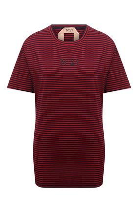 Женская хлопковая футболка N21 красного цвета, арт. 21E N2M0/F053/4213 | Фото 1